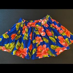 Abercrombie Floral Skirt Large Summer!